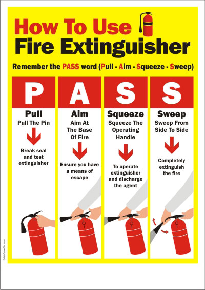 PASS extinguisher