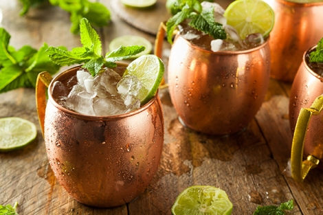 40034469 - icy cold moscow mules with ginger beer and vodka